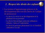 2 respect des droits des enfants