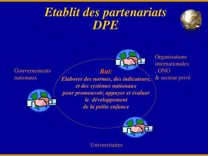 Etablit des partenariats DPE