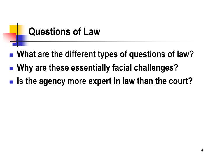 Questions of Law
