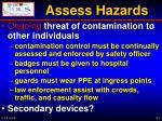 assess hazards