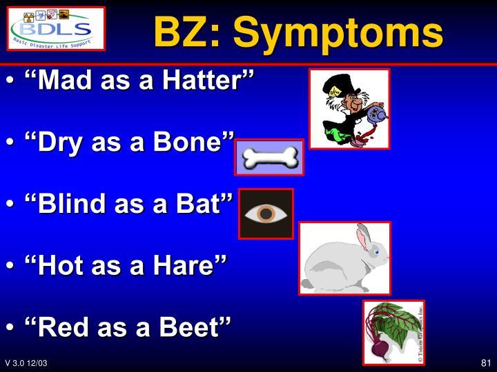 BZ: Symptoms