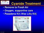 cyanide treatment