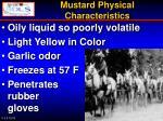 mustard physical characteristics