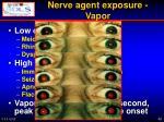 nerve agent exposure vapor