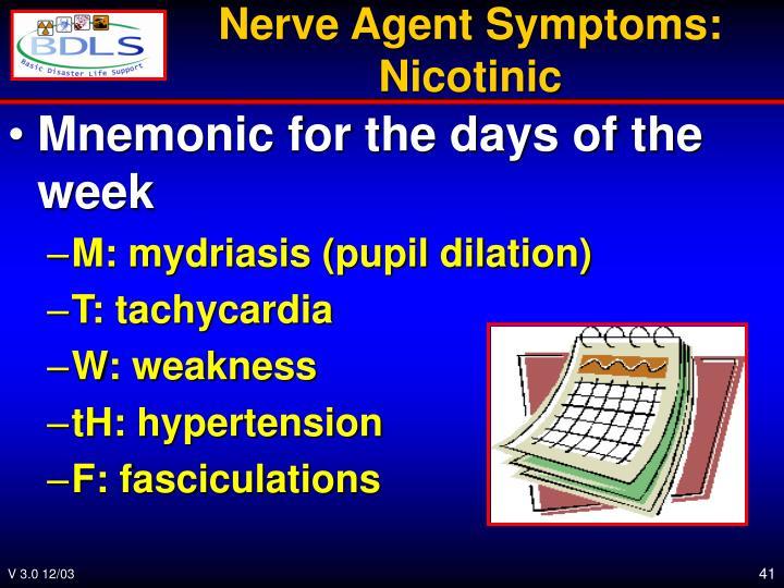 Nerve Agent Symptoms: Nicotinic