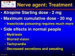 nerve agent treatment
