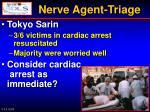 nerve agent triage