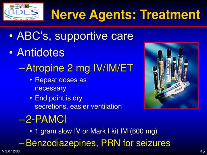 Nerve Agents: Treatment