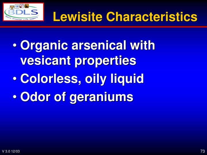 Lewisite Characteristics