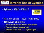 terrorist use of cyanide