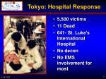 tokyo hospital response