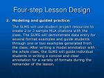 four step lesson design2