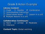 grade 8 action example