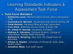 learning standards indicators assessment task force1