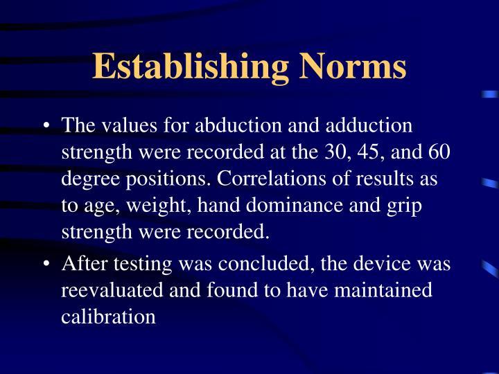 Establishing Norms