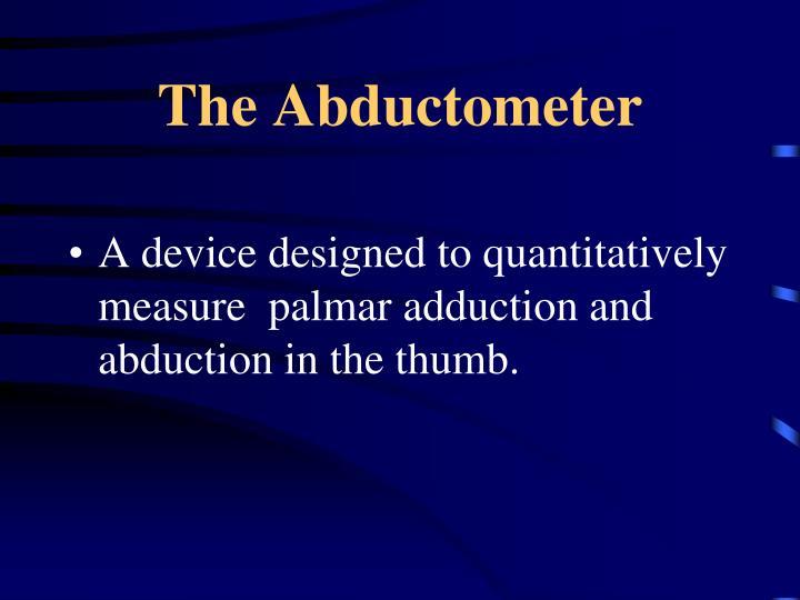 The Abductometer