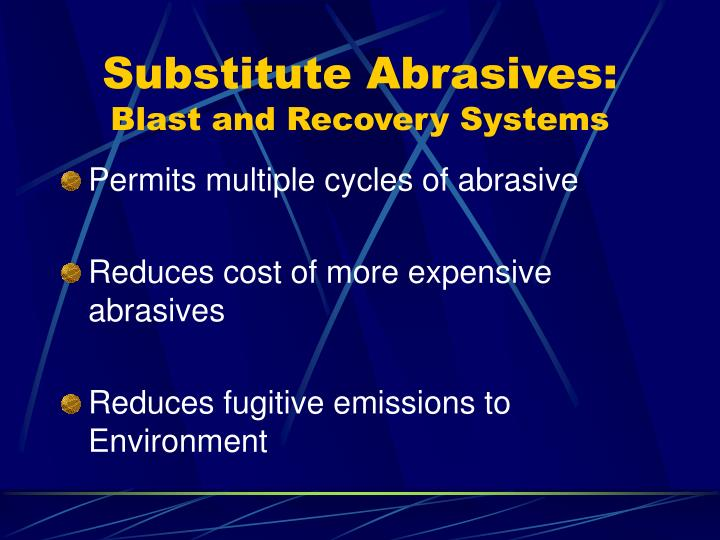 Substitute Abrasives: