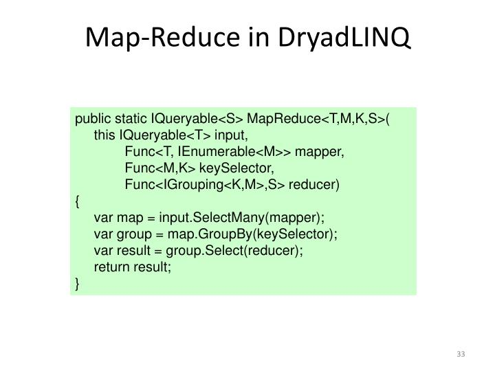 Map-Reduce in