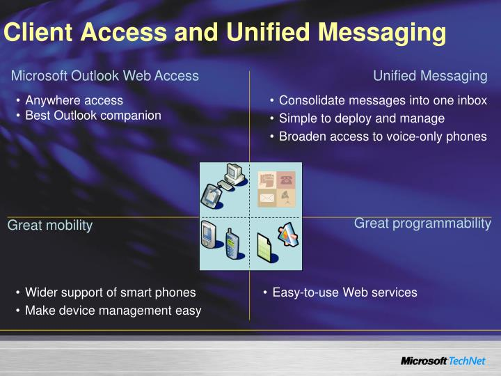 Client Access and Unified Messaging