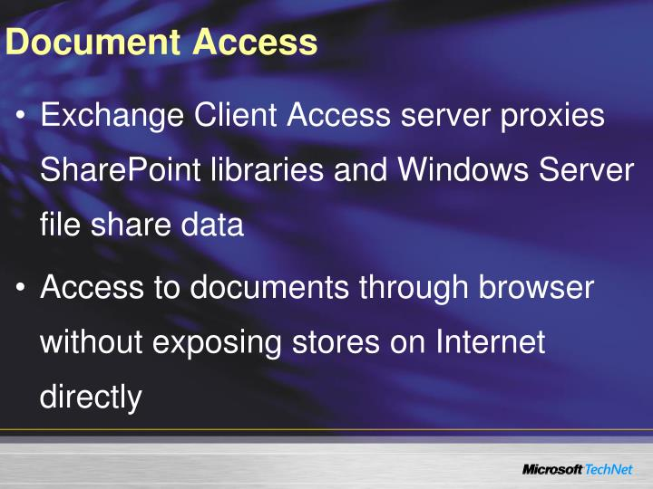 Document Access
