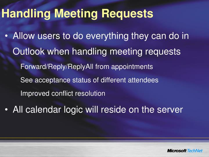 Handling Meeting Requests