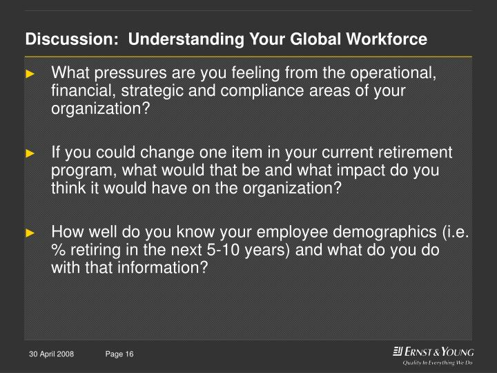 Discussion:  Understanding Your Global Workforce