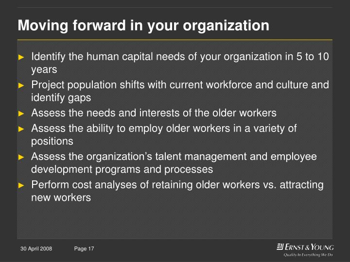 Moving forward in your organization