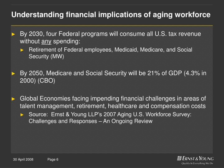 Understanding financial implications of aging workforce