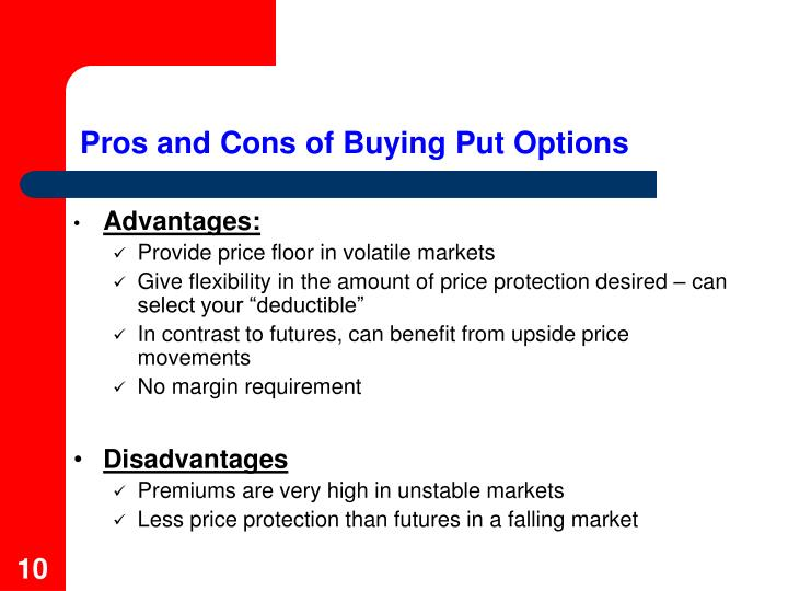 Pros and Cons of Buying Put Options