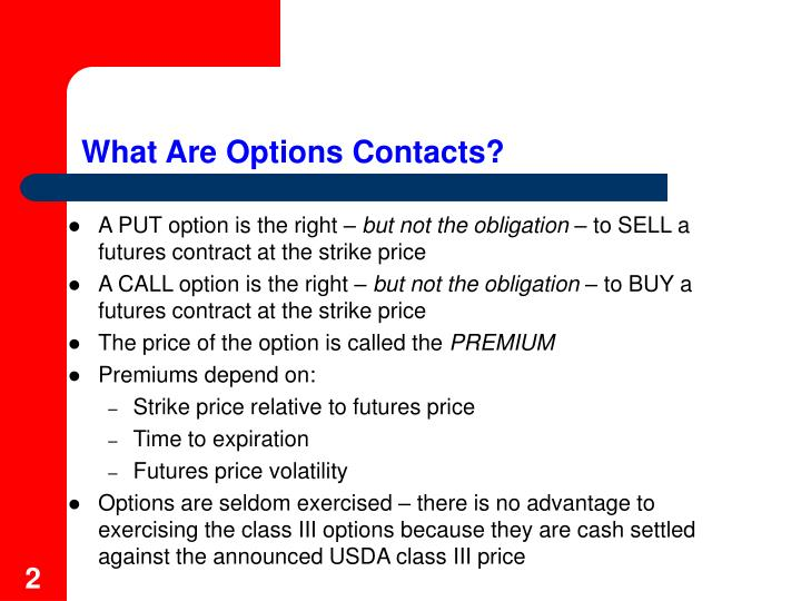 What Are Options Contacts?