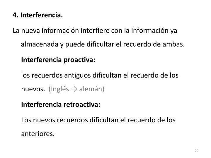 4. Interferencia.