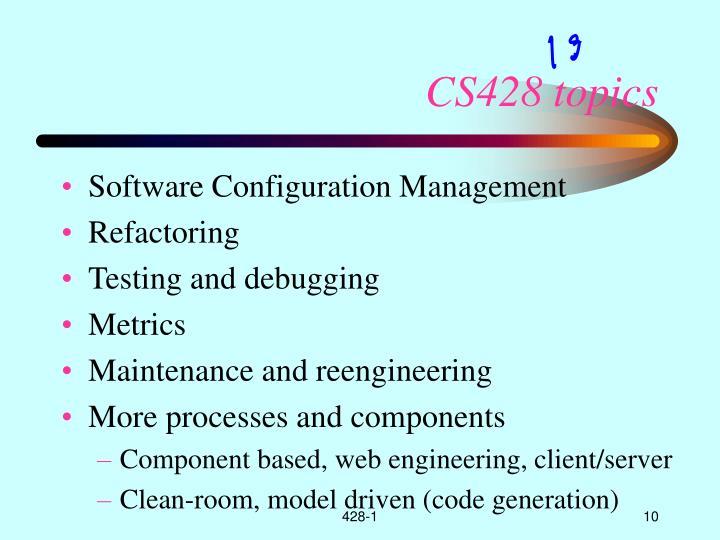 CS428 topics