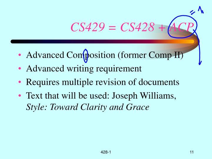 CS429 = CS428 + ACP