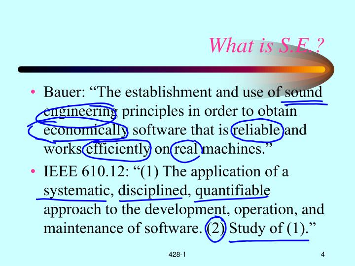 What is S.E.?