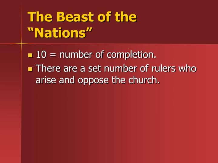 """The Beast of the """"Nations"""""""