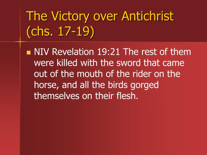 The Victory over Antichrist