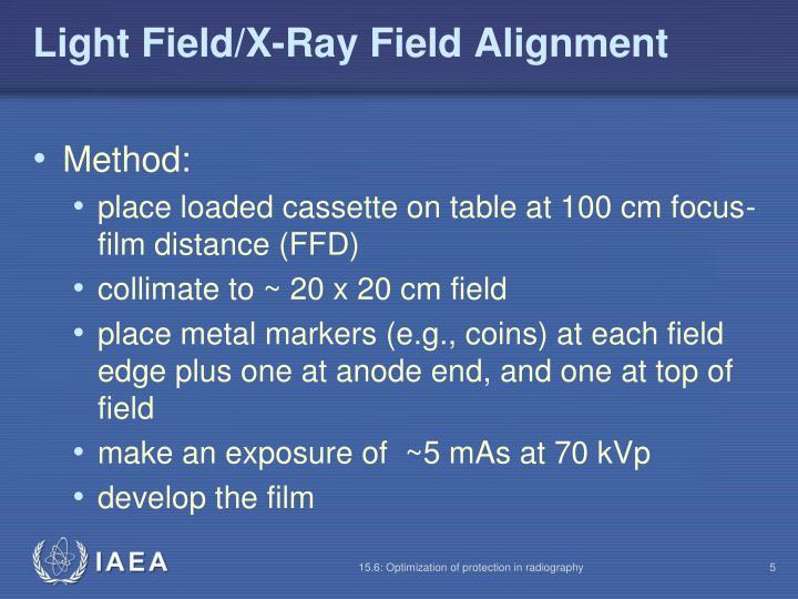 Light Field/X-Ray Field Alignment