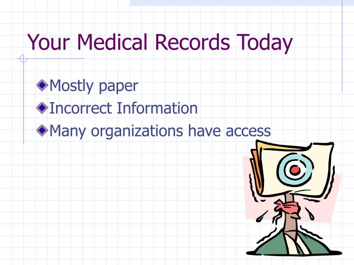 Your Medical Records Today