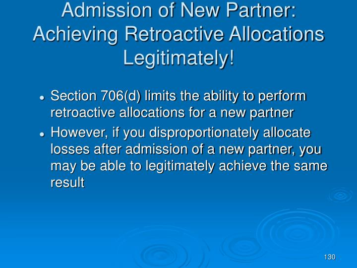 Admission of New Partner: