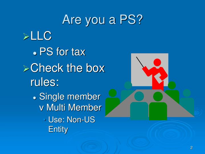 Are you a PS?
