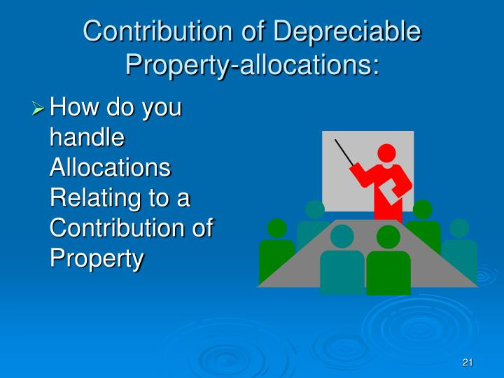 Contribution of Depreciable Property-allocations: