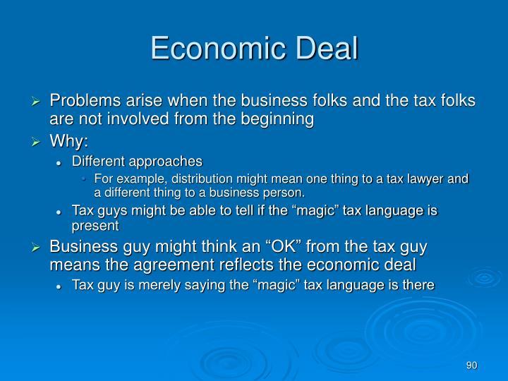 Economic Deal