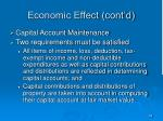 economic effect cont d