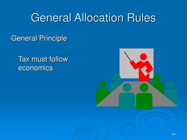 General Allocation Rules