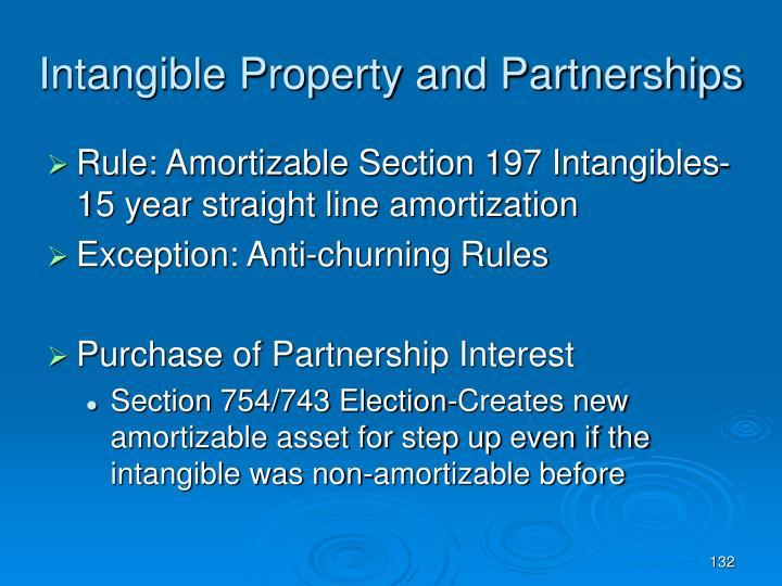 Intangible Property and Partnerships