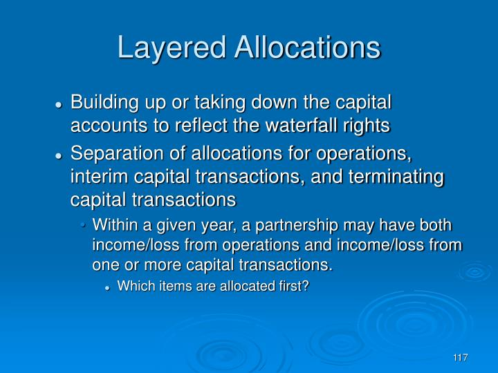 Layered Allocations