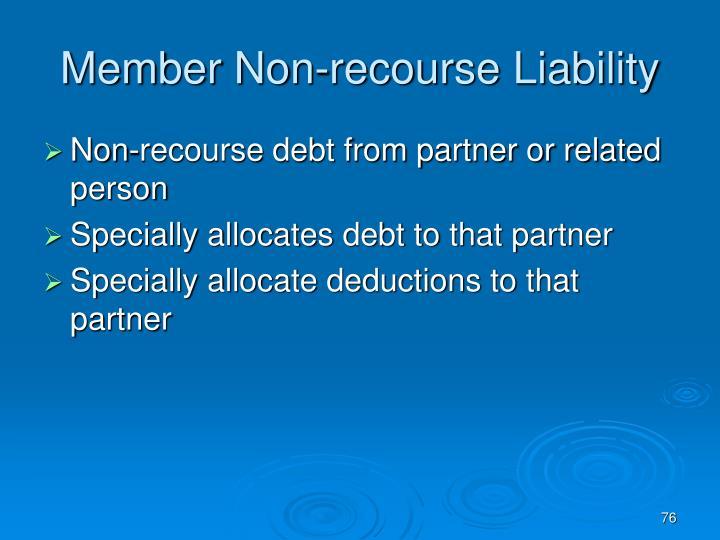 Member Non-recourse Liability