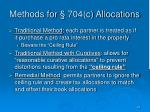 methods for 704 c allocations