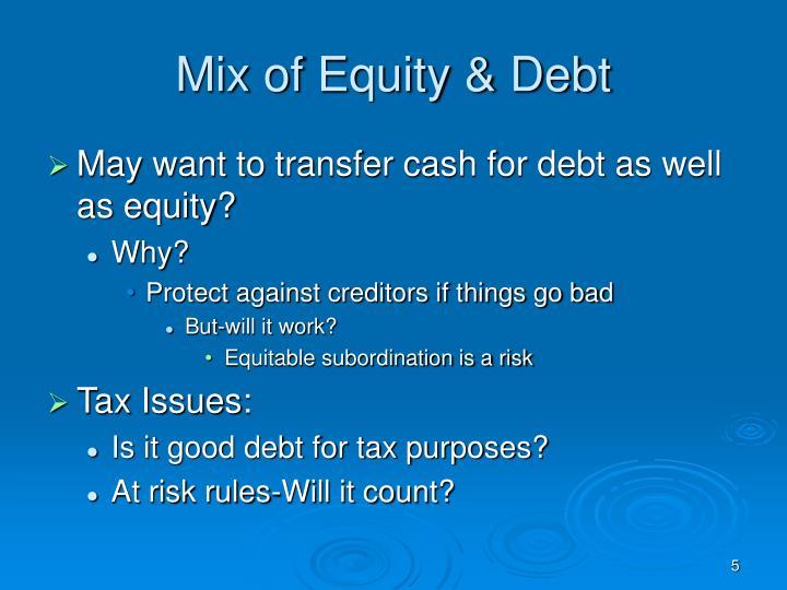 Mix of Equity & Debt