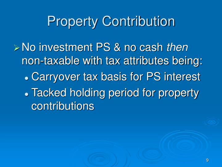 Property Contribution